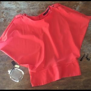 Ark & Co. Red Blouse Size Small